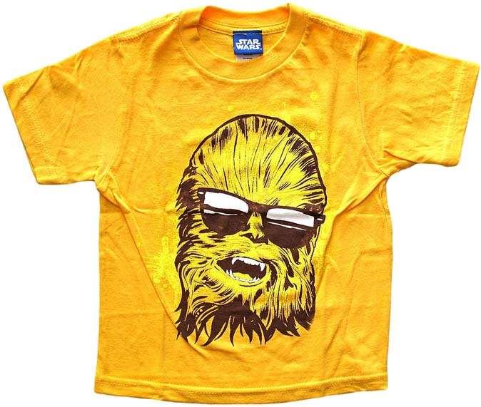 star wars kids chewbacca w sunglasses wild child orange t shirt size