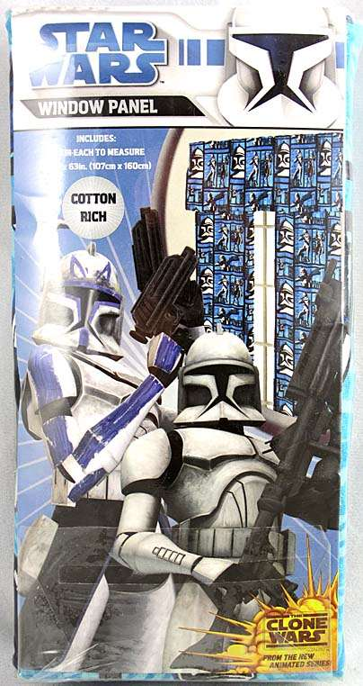 star wars clone wars clone troopers curtains drapes window. Black Bedroom Furniture Sets. Home Design Ideas
