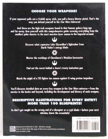 Star Wars Essential Guide To Weapons & Tech Trade Paperback Book