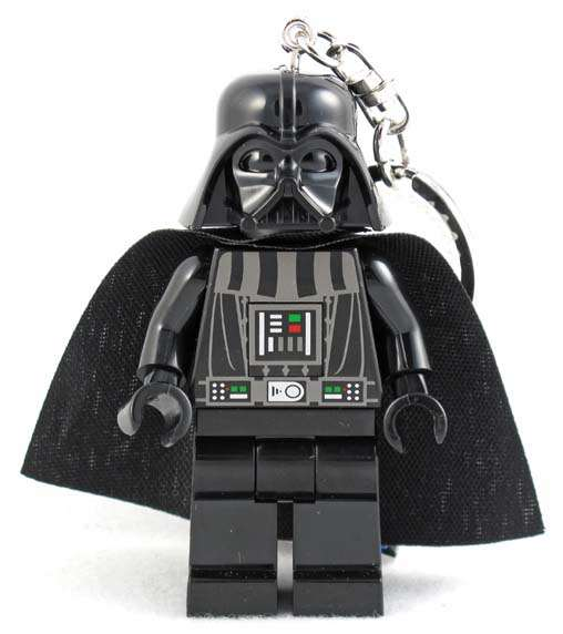 Star Wars Lego Darth Vader Figure Key Chain / LED Key Light 3""