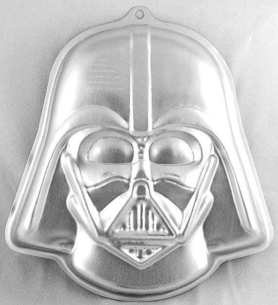 Star Wars Darth Vader Metal Cake Pan W Instructions Wilton Sw