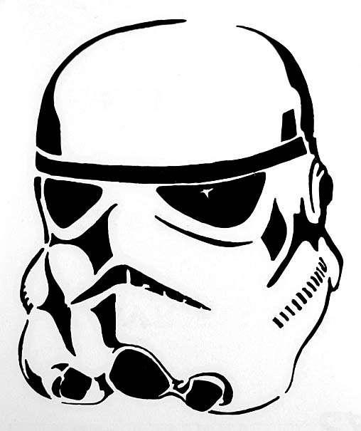 Elegant Product Description. Star Wars Stormtrooper Black Vinyl Window Decal.